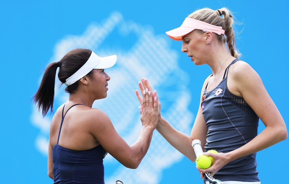 Naomi Broady & Heather Watson at the Aegon Classic, Birmingham 2016