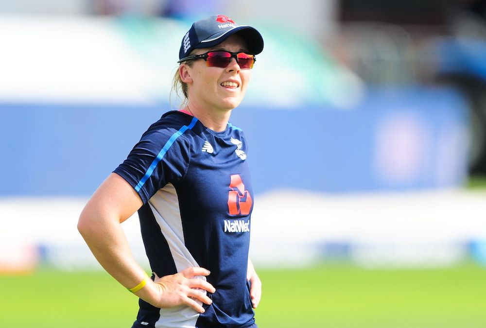 Heather Knight captain of England during the Women's World Cup Semi Final Match between England v South Africa, June 2017