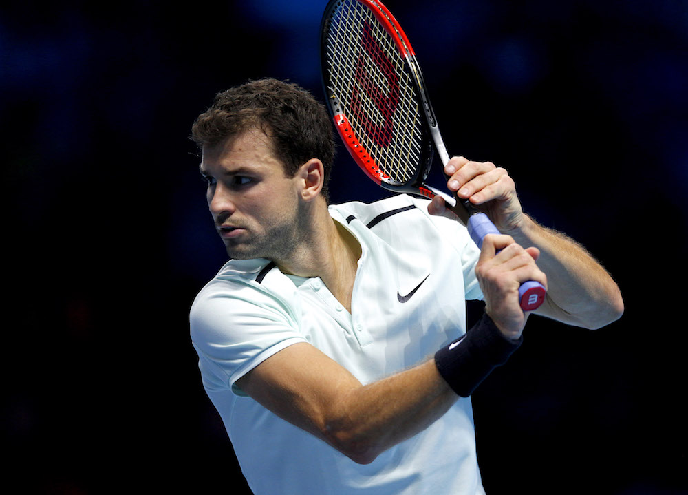 Grigor Dimitrov at the 2017 Nitto ATP World Tour Finals, London