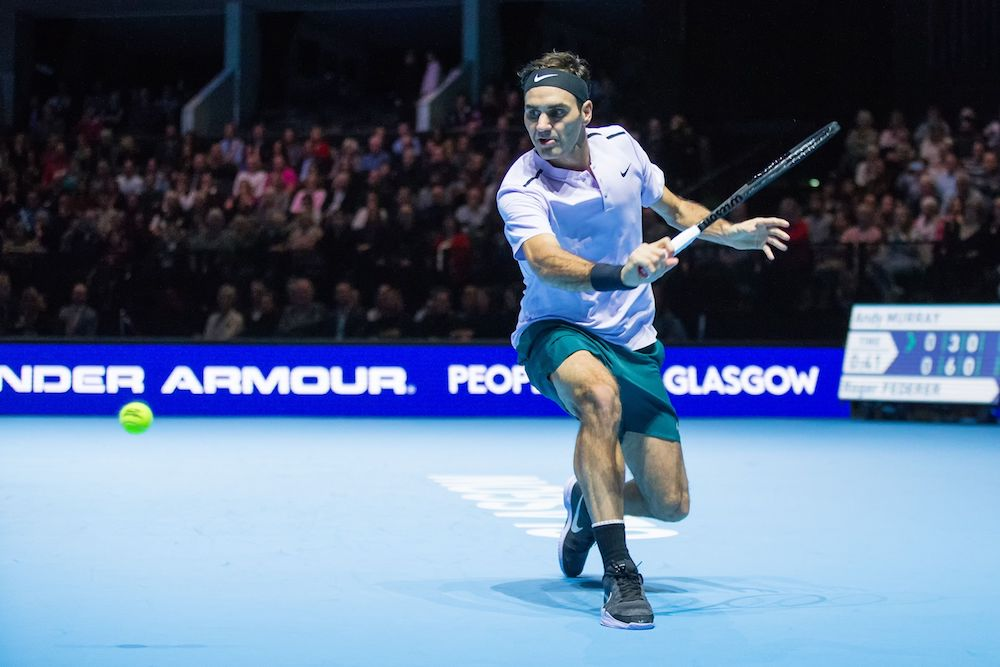 Roger Federer during the Andy Murray Live event at SSE Hydro, Glasgow 2017
