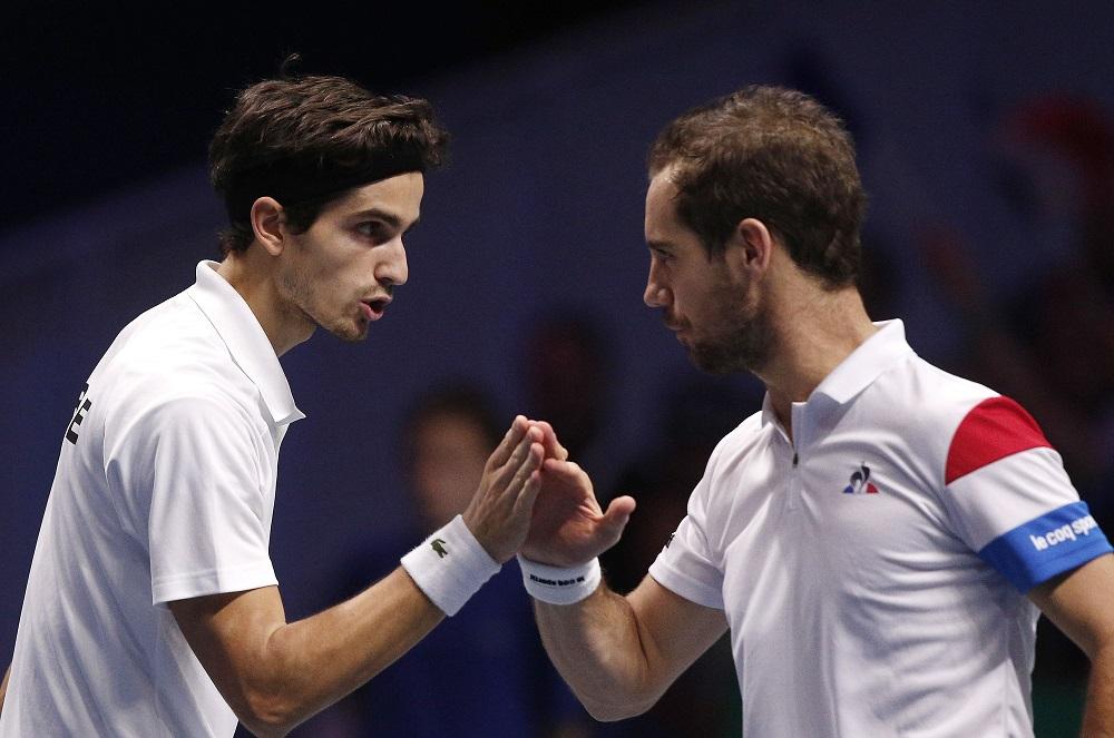 Richard Gasquet and Pierre-Hugues Herbert in the Davis Cup Final, 2017