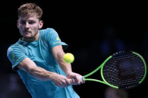 David Goffin at the 2017 Nitto ATP World Tour Finals, London