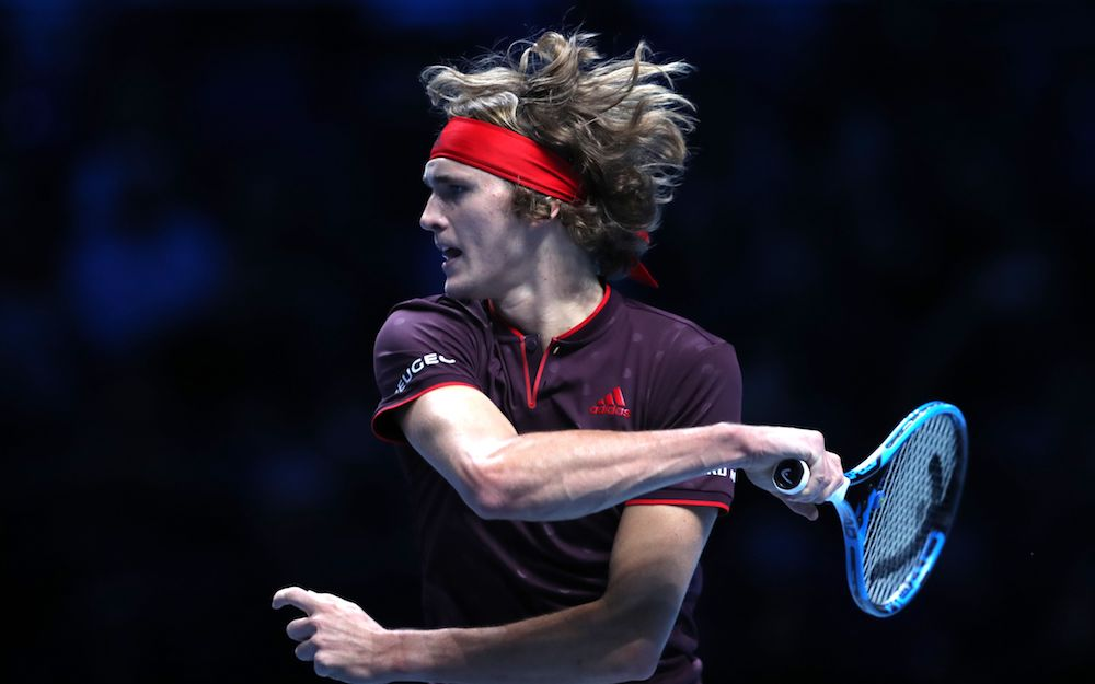 Alexander Zverev at the 2017 Nitto ATp World Tour Finals, London