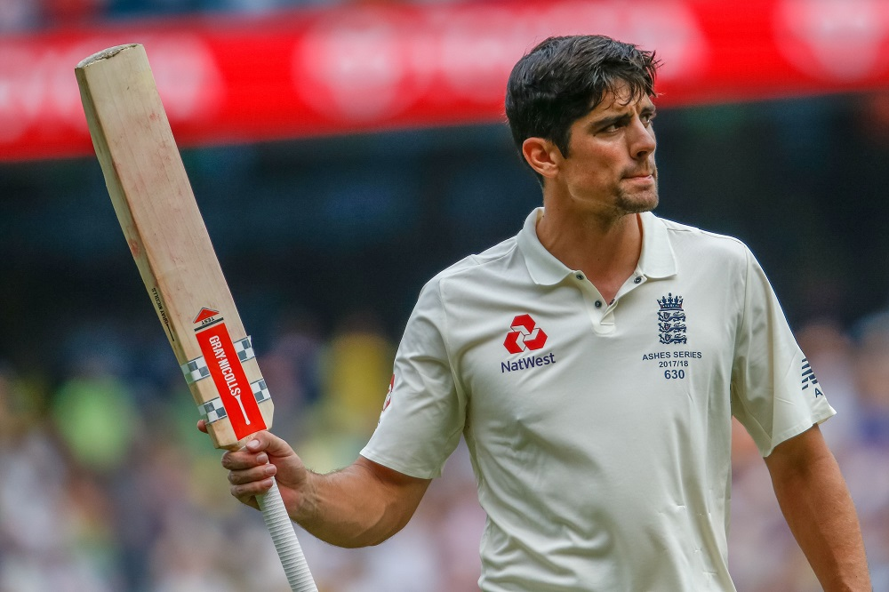 Alastair Cook after scoring a double centry, Ashes 2017