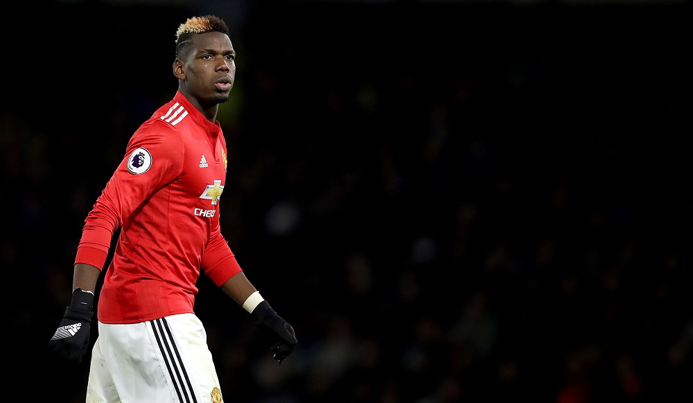 Paul Pogba of Manchester United against Watford, Premier League, November 2017
