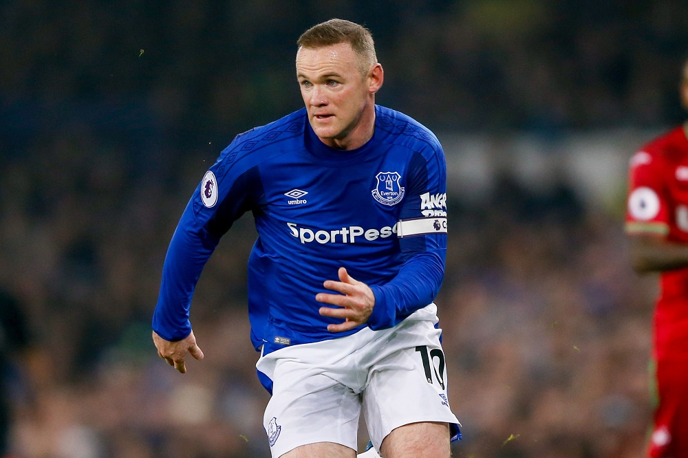 Everton striker Wayne Rooney, Premier League 2017