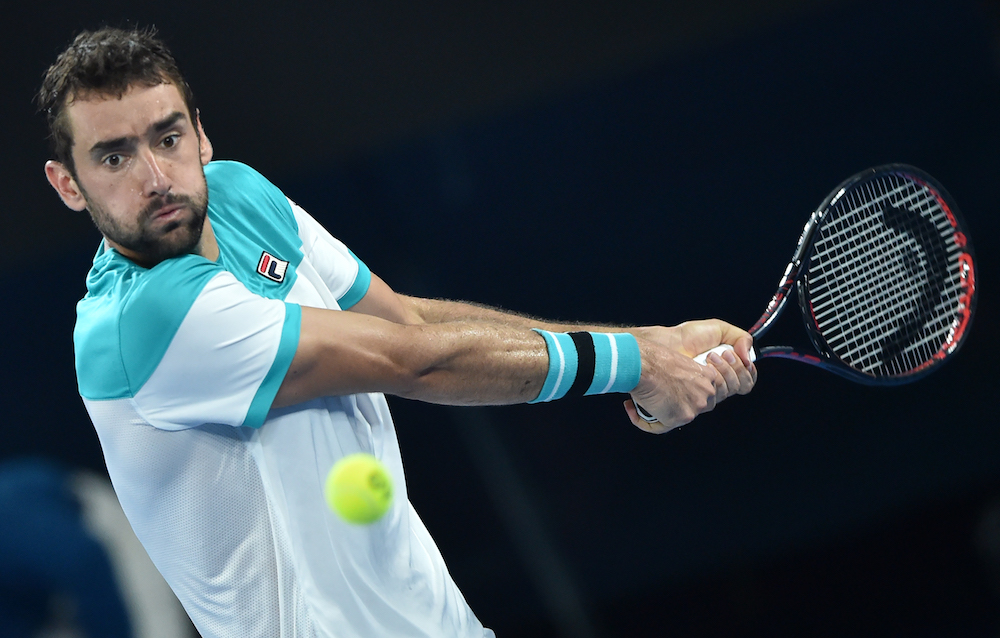 Marin Cilic in the Australian Open Final, 2018