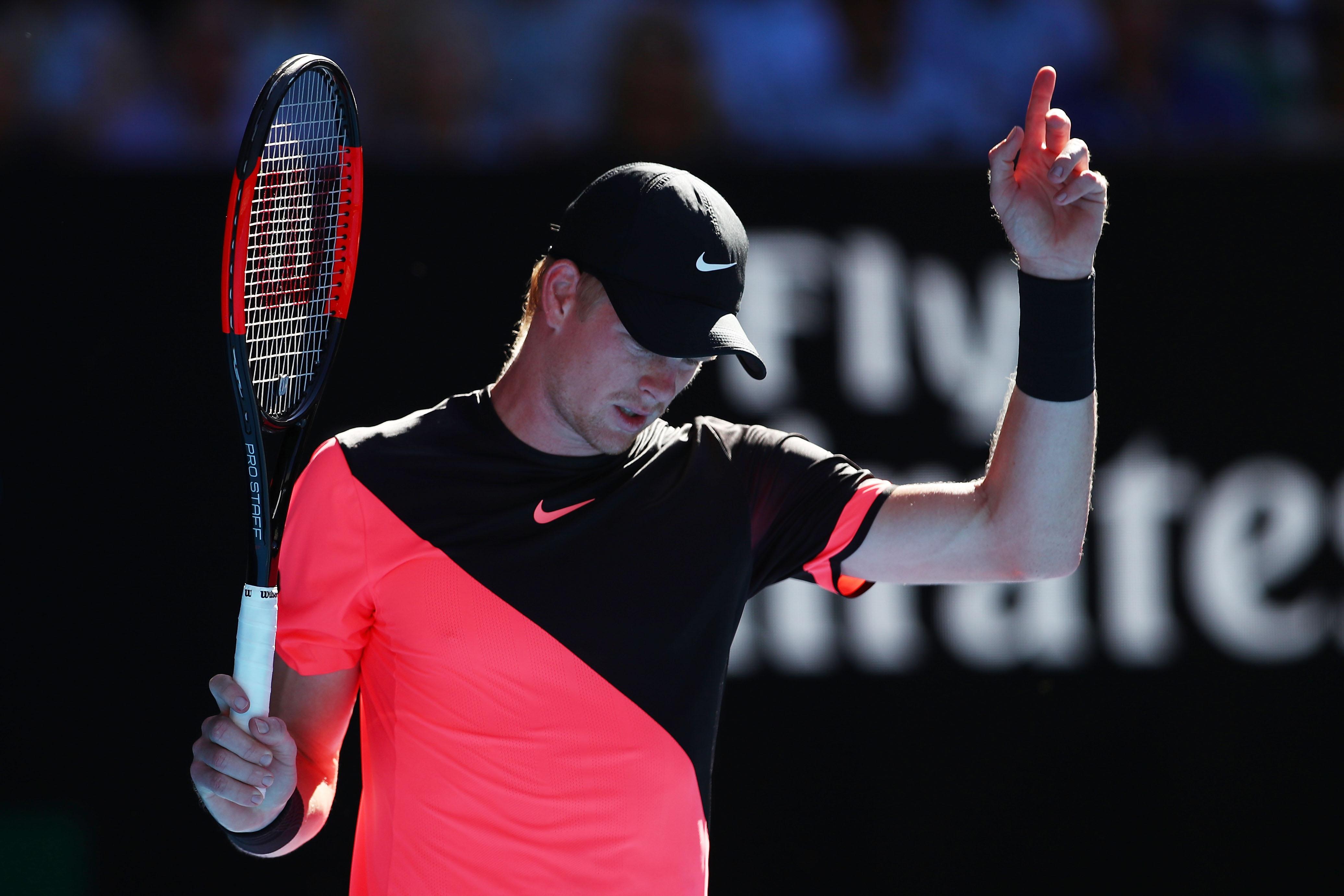 Kyle Edmund in the quarter-final, Australian Open 2018
