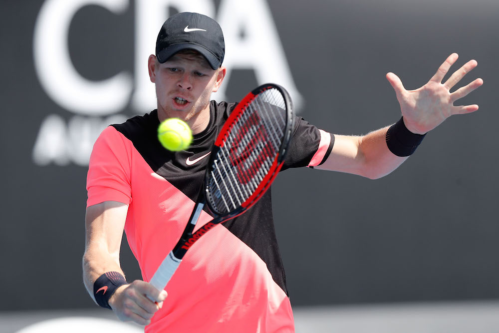 Kyle Edmund in the first round of the Australian Open