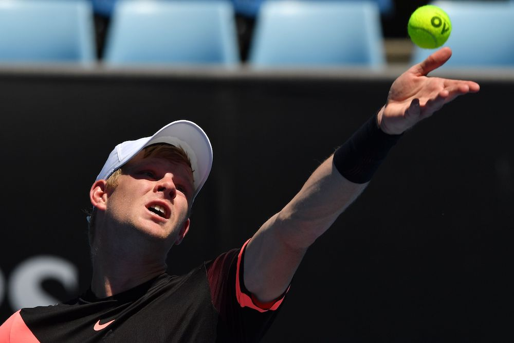 Kyle Edmund in the third round of the Australian Open 2018