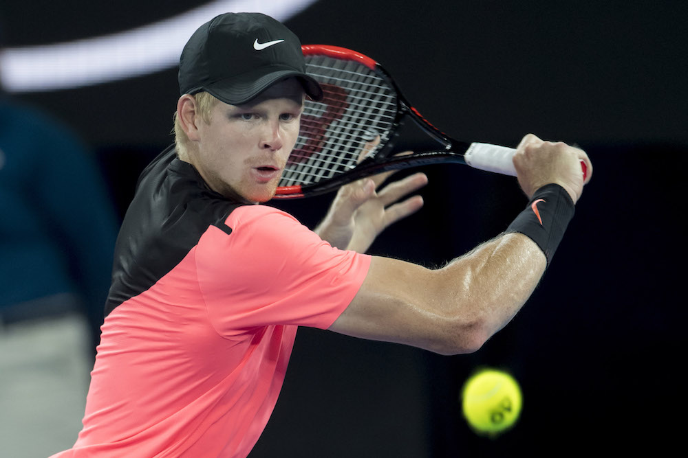 Kyle Edmund in the semi-final of the Australian Open, 2018