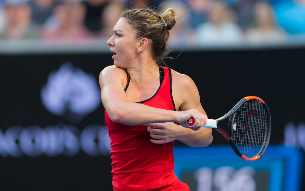 Simona Halep in the second round of the Australian Open, 2018