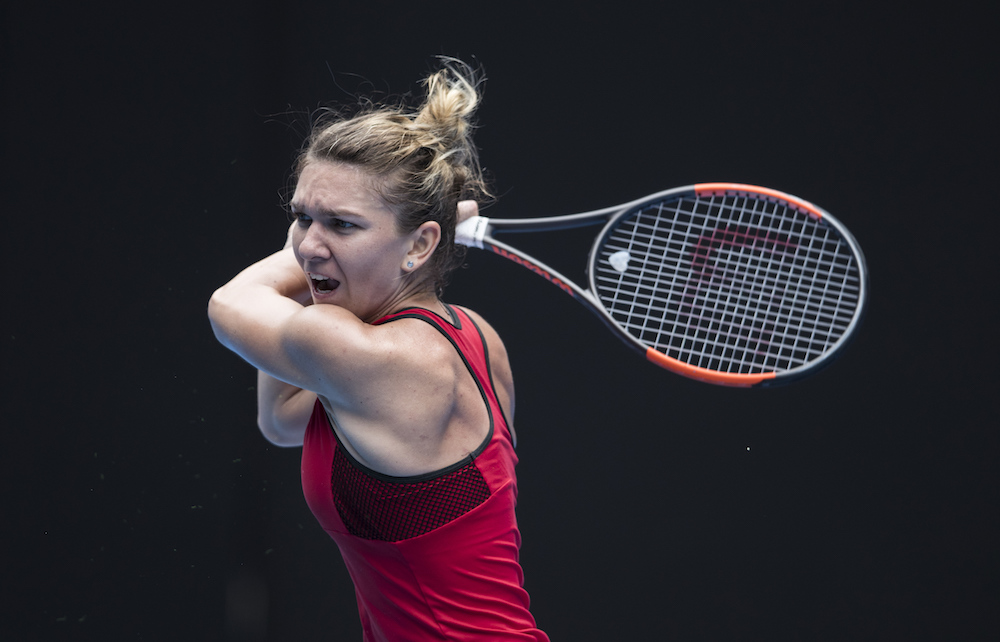 Simona Halep in the third round of the Australian Open 2018