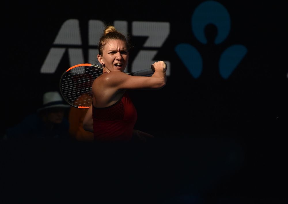Simona Halep in the semi-final of the Australian Open 2018