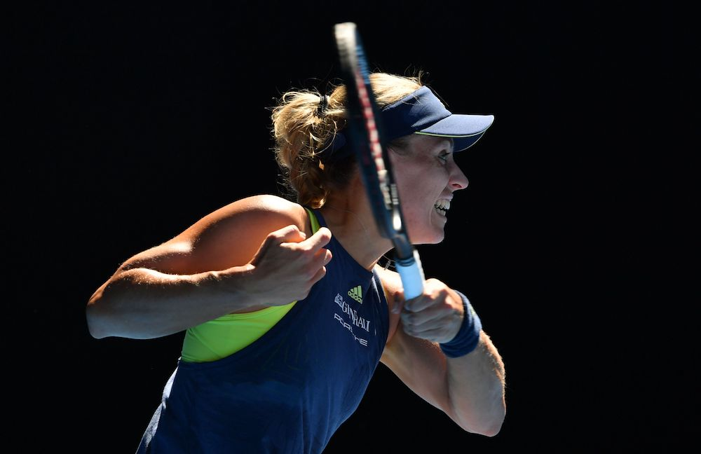 Angelique Kerber in the second round of the Australian Open 2018