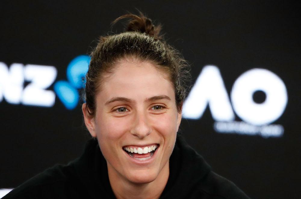Johanna Konta of Great Britain Pre-Tournament press Conference, Australian Open 2018