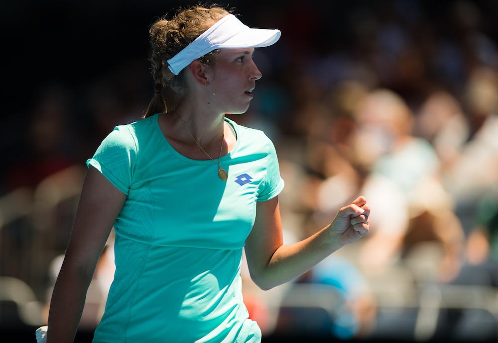 Elise Mertens at the Australian Open, 2018