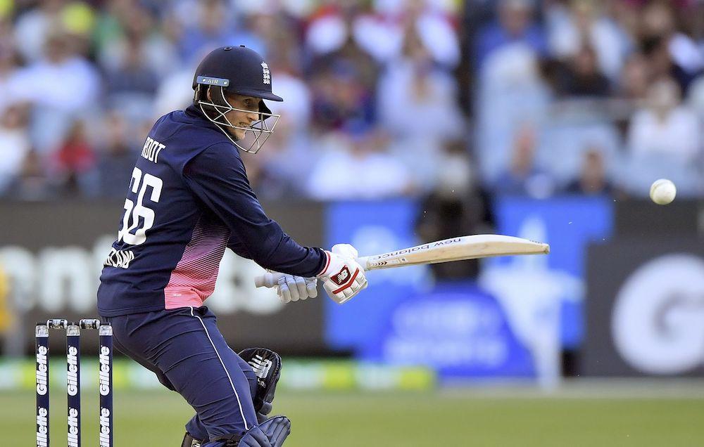 Joe Root in the ODI against Australia, 2018