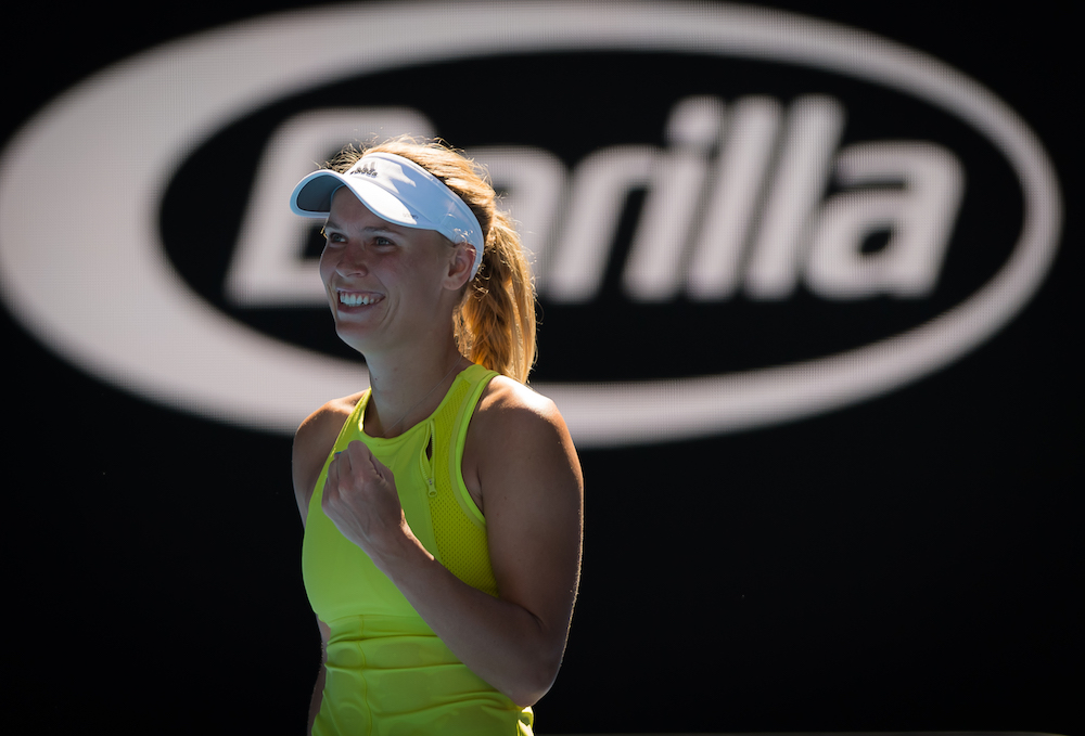 Caroline Wozniacki in the second round of the Australian Open, 2018
