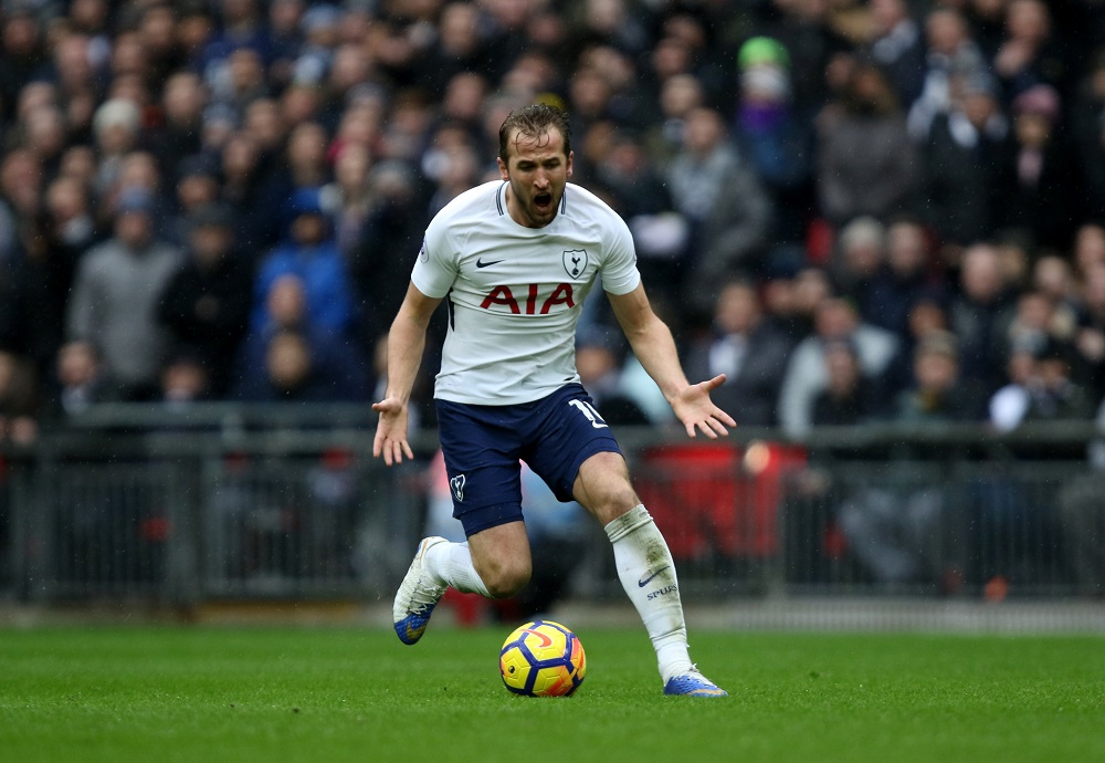 Harry Kane of Tottenham Hotspur in the Premier League