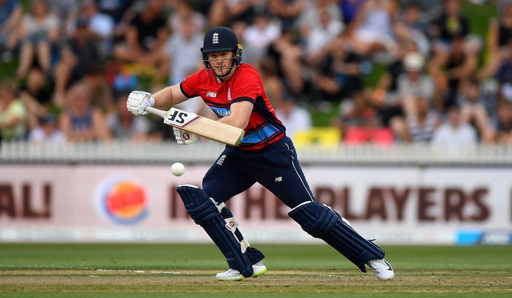 Eoin Morgan in the International Twenty20 between New Zealand and England, 2018