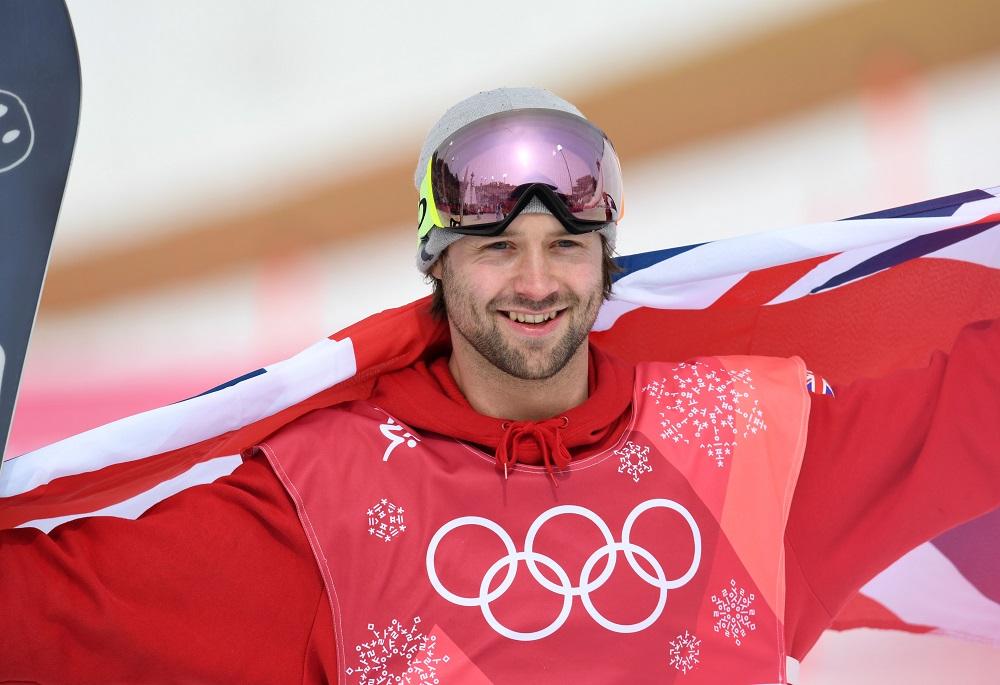 GB's Billy Morgan after winning Men's Snowboard Big Air bronze in the PyeongChang Winter Olympics, 2018
