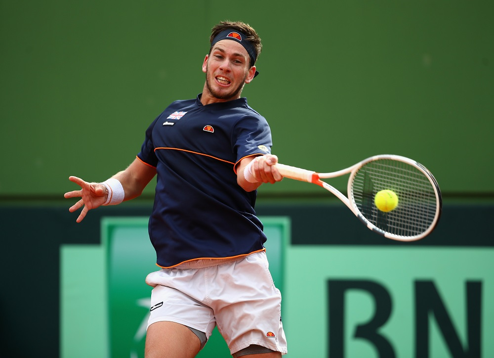 Cameron Norrie in the Davis Cup R1 tie between Spain and Great Britain, Marbella Spain, 2018