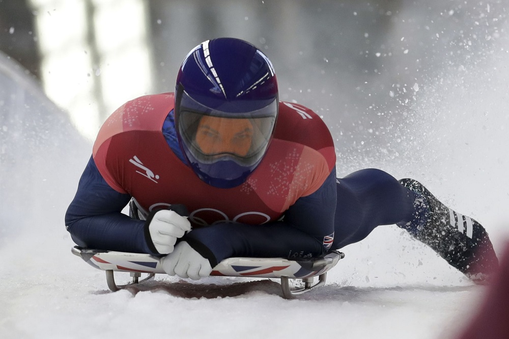 Dom Parsons of Great Britain, Bronze medallist, Skeleton, Winter Olympics PyeongChang 2018