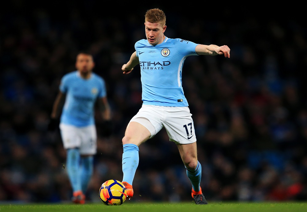 Kevin De Bruyne of Manchester City Manchester City v Leicester City, Premier League 2018