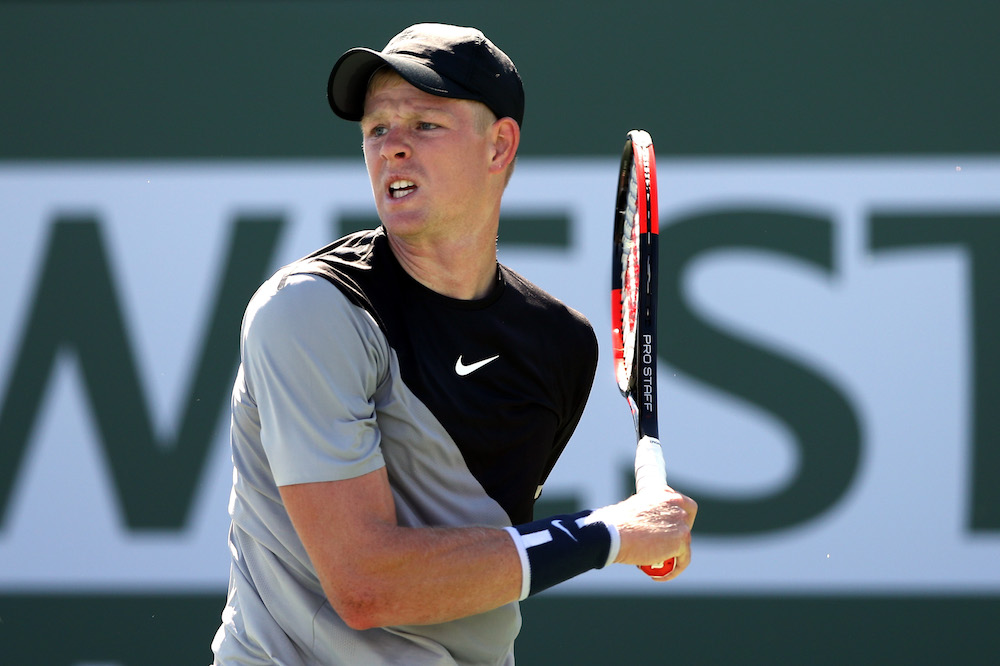 Kyle Edmund in the second round of the BNP Paribas Open, ATP Indian Wells 2018