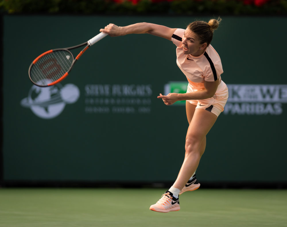 Simona Halep in the third round of the BNP Paribas Open, WTA Indian Wells 2018