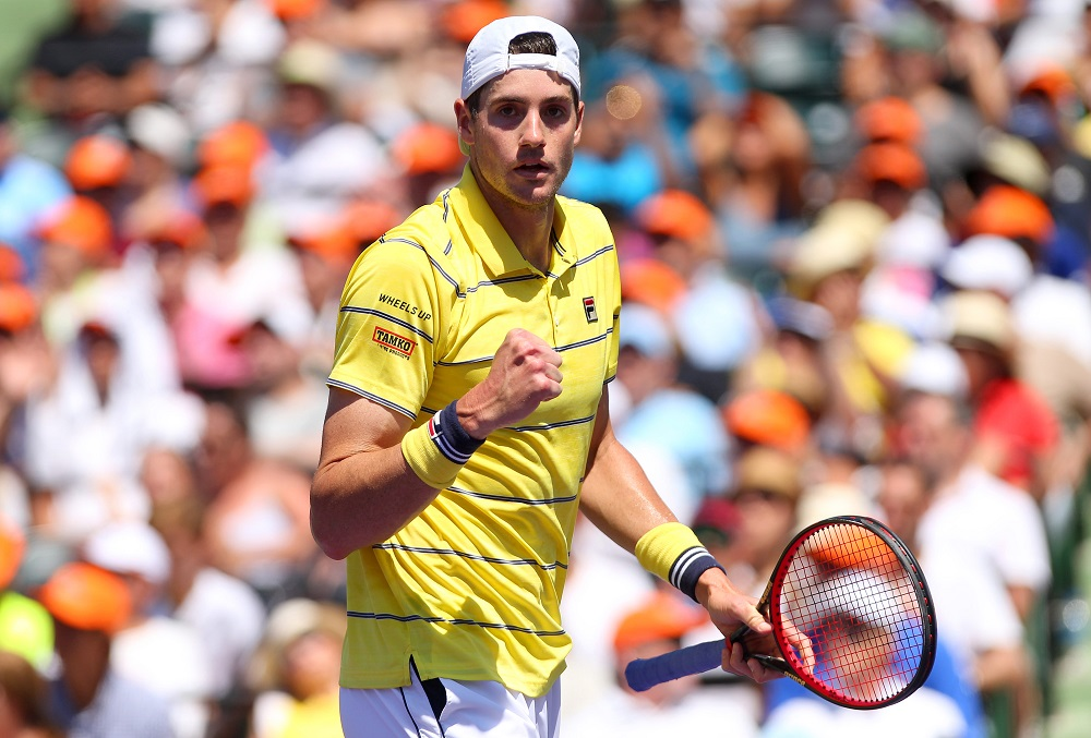 John Isner in the Miami Open final, ATP Miami 2018