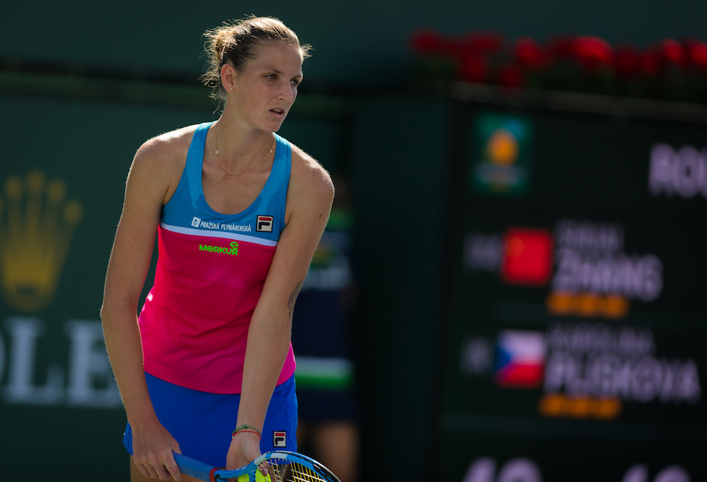 Karolina Pliskova in the third round of the BNP Paribas Open, WTA Indian Wells 2018
