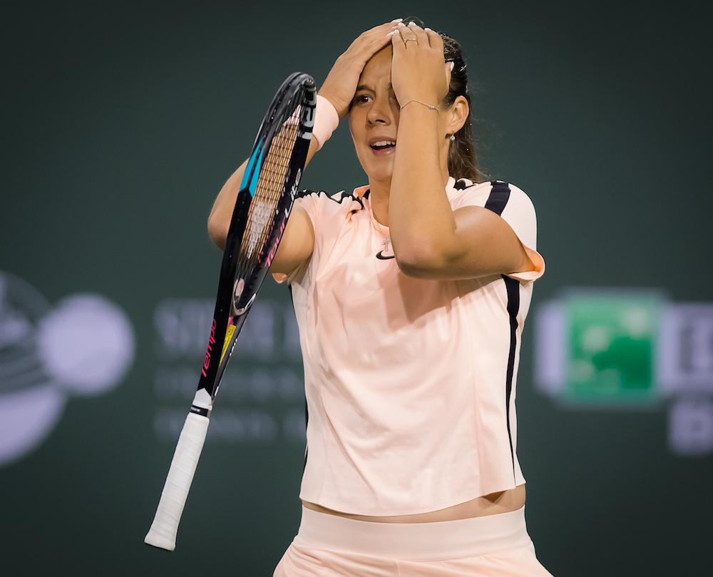 Daria Kasatkina in the semi-final of the BNP Paribas Open, WTA Indian Wells 2018