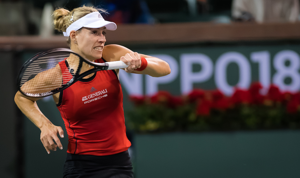 Angelique Kerber in her opening match at the BNP Paribas Open, WTA Indian Wells 2018