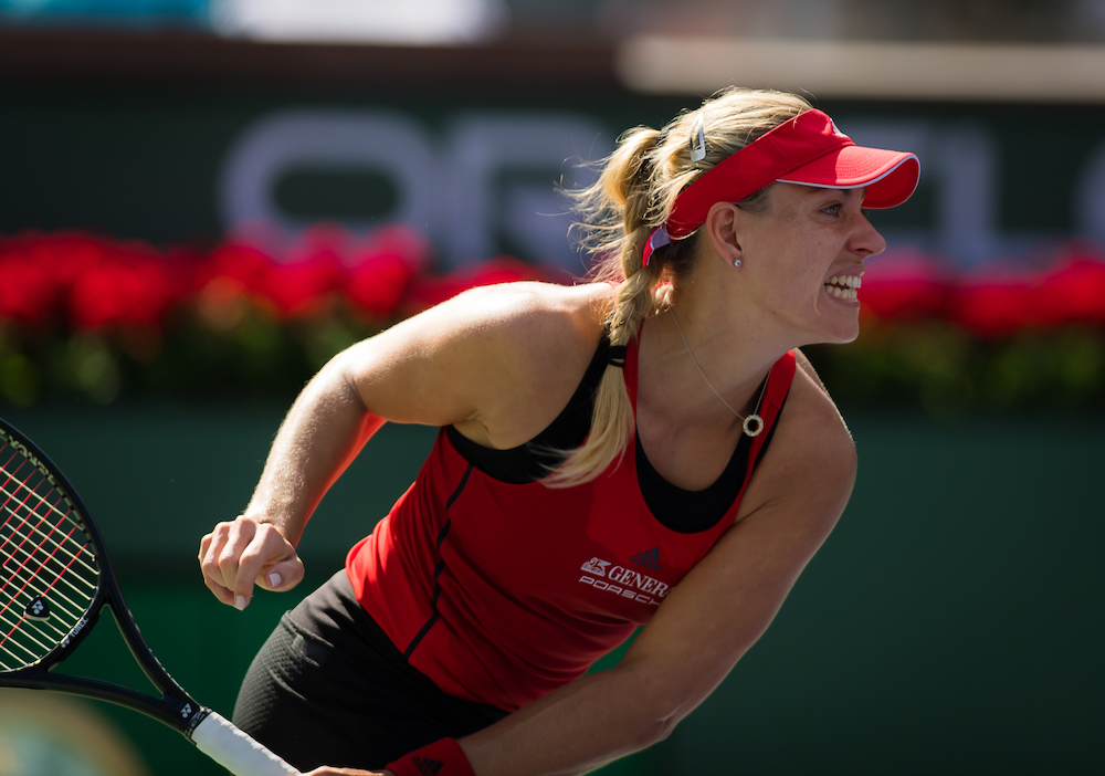 Angelique Kerber in the third round of the BNP Paribas Open, WTA Indian Wells 2018