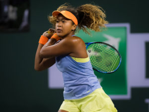 Naomi Osaka in the semi-final of the BNP Paribas Open, WTA Indian Wells