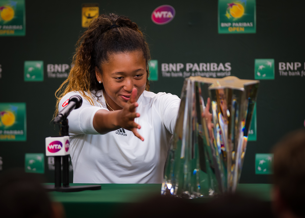Naomi Osaka in her post-final press conference after winning the BNP Paribas Open, WTA Indian Wells