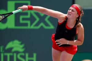Jelena Ostapenko in the Miami Open final, WTA Miami 2018