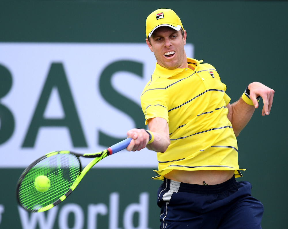 Sam Querrey in the third round of the BNP Paribas Open, ATP Indian Wells 2018
