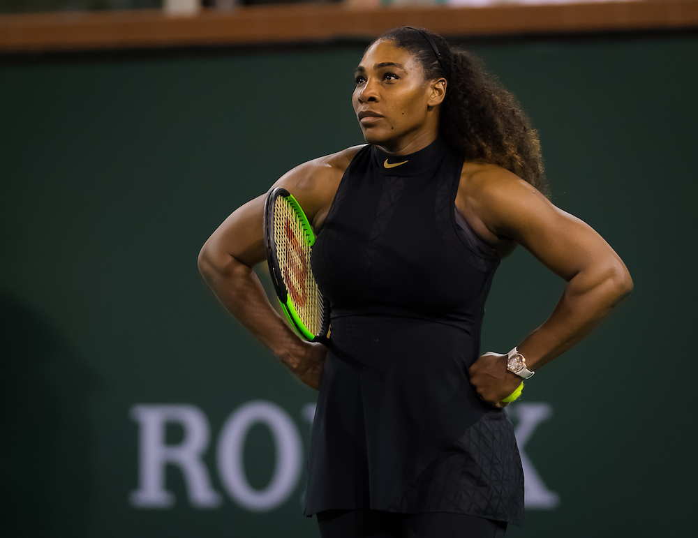 Serena Williams in the third round of the BNP Paribas Open, WTA Indian Wells 2018