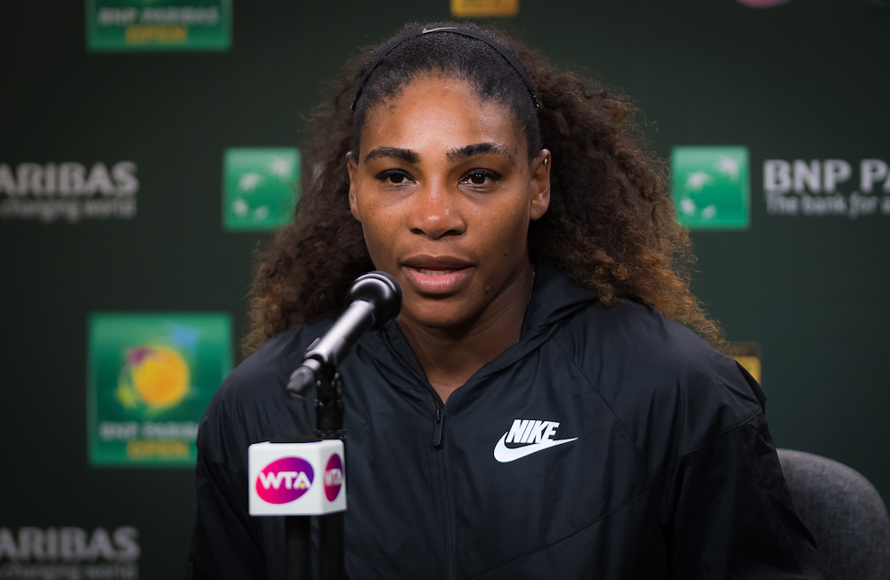 Serena William in post-match press after the third round of the BNP Paripas Open, WTA Indian Wells 2018