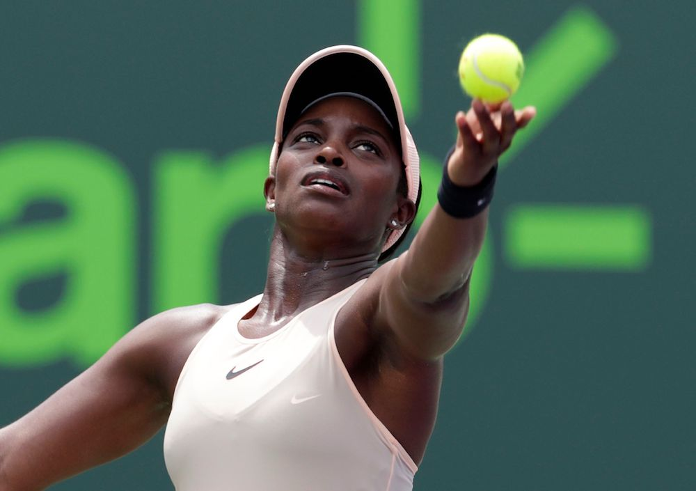 Sloane Stephens in the final of the Miami Open, WTA Miami 2018