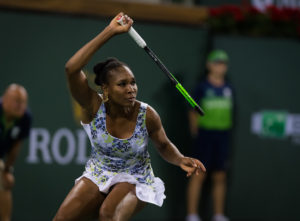 Venus Williams in the third round of the BNP Paribas Open, WTA Indian Wells 2018