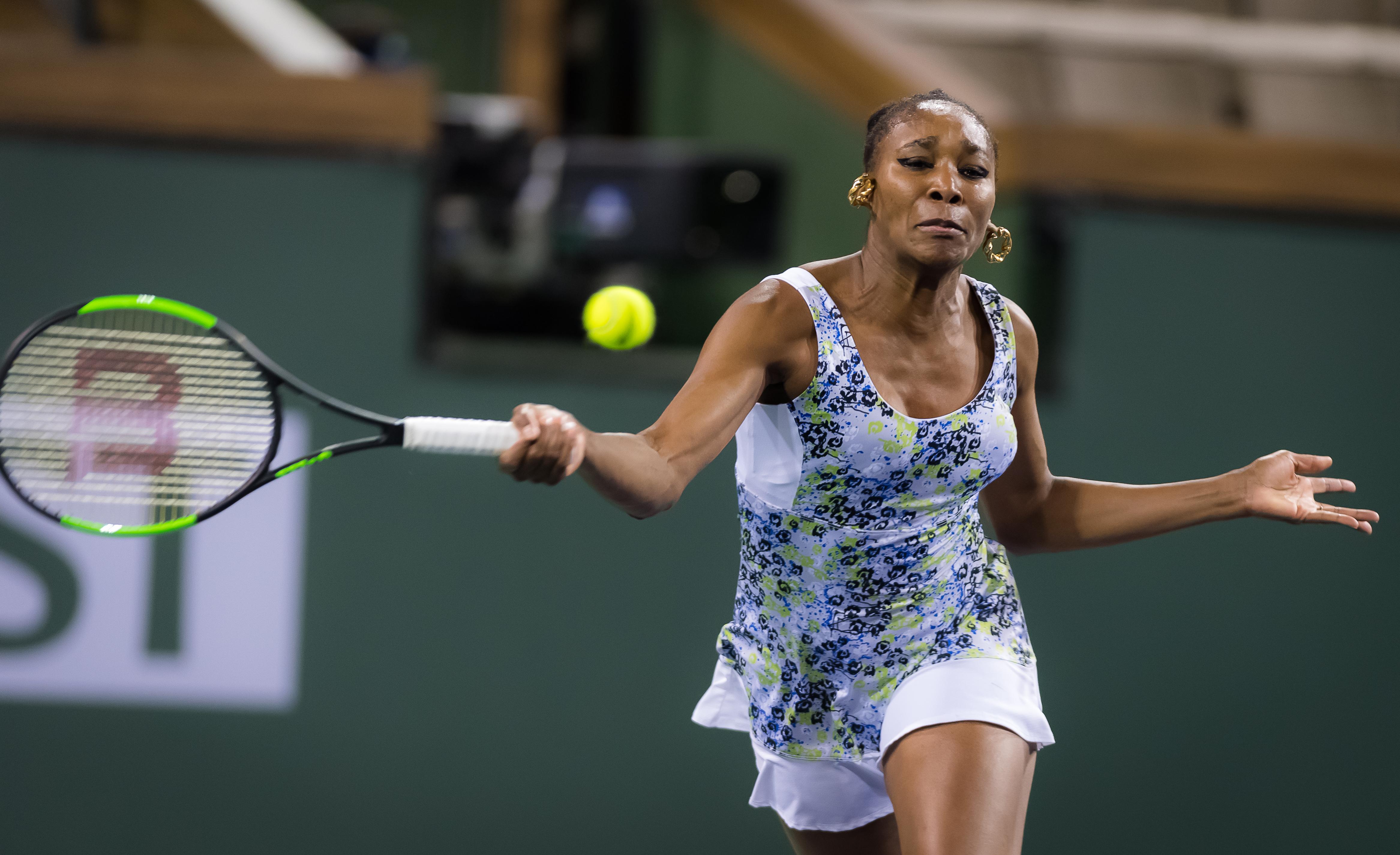 Venus Williams in the semi-final of the BNP Parobas Open, WTA Indian Wells