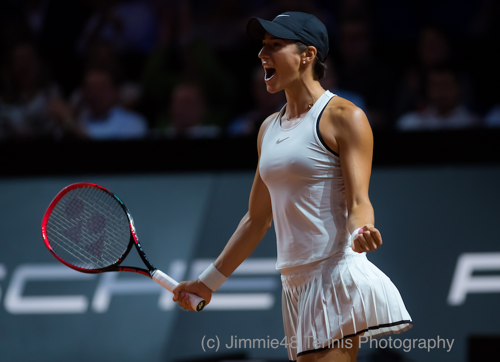 Caroline Garcia in the first round of the Porsche Tennis Grand Prix, WTA Stuttgart 2018