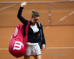 Simona Halep after the quarter-final of the Porsche Tennis Grand Prix, WTA Stuttgart 2018