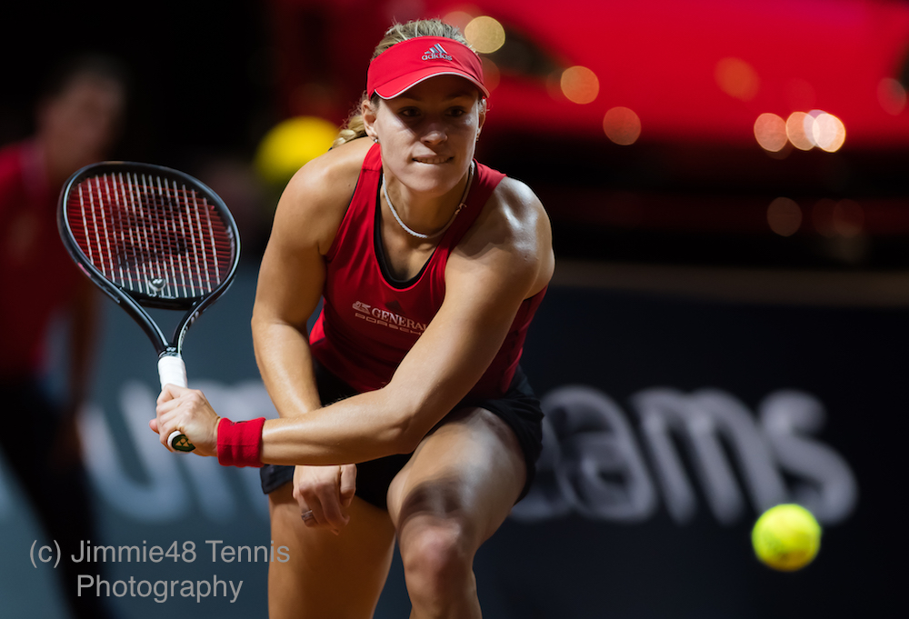 Angelique Kerber in the first round of the Porsche Tennis Grand Prix, WTA Stuttgart