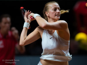 Petra Kvitova in the first round of the Porsche Tennis Grand Prix, WTA Stuttgart 2018
