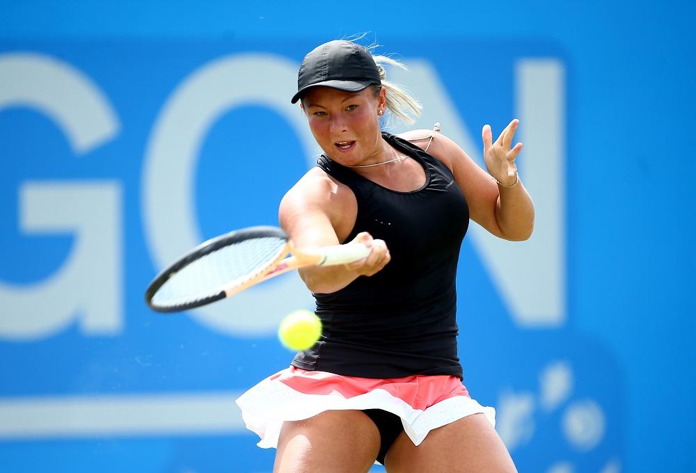 Tara Moore in the Aegon Open, WTA Nottingham 2017